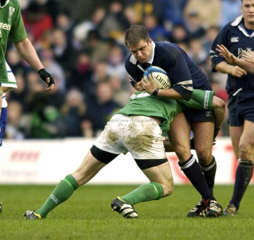 Photo. Jed Wee.Scotland v Ireland, Rugby Union Six Nations Championship, Murrayfield, Edinburgh. 16/02/2003..Scotland's Bruce Douglas.