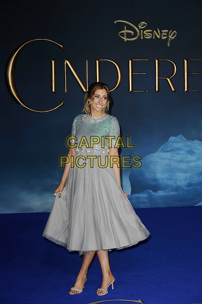 LONDON, ENGLAND - MARCH 19: Stacey Solomon attending the 'Cinderella' UK Premiere at Odeon Cinema, Leicester Square on March 19, 2015 in London, England<br /> CAP/MAR<br /> &copy; Martin Harris/Capital Pictures