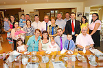 Joanne Fleming Steven O'Brien and brother Jamie O'Brien from Firies, celebrate  the  christening of Sophie O'Brien at St. Gertrudes Church, Firies by Fr. Doherty and after with family at Kate Kearneys Cottage on Sunday