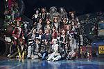 Gillian Lynne choregraphe et metteur en scene associe et Chimene Badi - Premiere representation du spectacle Cats avec Chimene Badi dans le role de Grizabella au Theatre Mogador a Paris