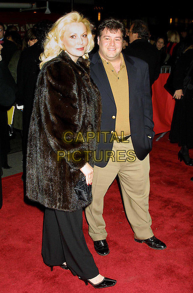 CATHY & JOSEPH MORIATY-GENTILE ..Anaylze That Film Premiere, New York..red carpet, fur coat, full length, full-length..www.capitalpictures.com..sales@capitalpictures.com..©Capital Pictures
