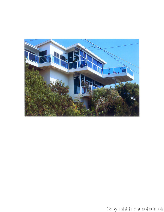 Point Loma Ocean View House, 2007. A remodel and addition by Michele Grace Hottel, architect. Design uses existing floor of upper level and adds the space below to respect height restrictions and side and front setbacks.