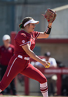 NWA Democrat-Gazette/BEN GOFF @NWABENGOFF<br /> Autumn Storms pitches for Arkansas in the top of the 3rd inning vs South Carolina Sunday, March 17, 2019, at Bogle Park in Fayetteville.