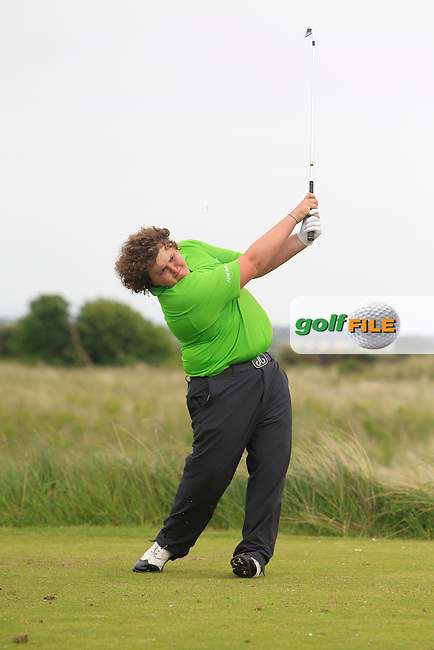 Christopher Maclean (Balmore Ltd) on the 15th tee during Round 2 of the East of Ireland in the Co. Louth Golf Club at Baltray on Sunday 1st June 2014.<br /> Picture:  Thos Caffrey / www.golffile.ie