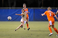 21 August 2011:  FIU's Deana Rossi (17) passes the ball in the second half as the University of Florida Gators defeated the FIU Golden Panthers, 2-0, at University Park Stadium in Miami, Florida.