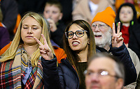 Blackpool fans watch on during the second half<br /> <br /> Photographer Alex Dodd/CameraSport<br /> <br /> The EFL Checkatrade Trophy Northern Group C - Blackpool v West Bromwich Albion U21 - Tuesday 9th October 2018 - Bloomfield Road - Blackpool<br />  <br /> World Copyright &copy; 2018 CameraSport. All rights reserved. 43 Linden Ave. Countesthorpe. Leicester. England. LE8 5PG - Tel: +44 (0) 116 277 4147 - admin@camerasport.com - www.camerasport.com
