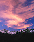 Sneffels Range in spring at sunset, Telluride, Colorado, USA. .  John offers private photo tours and workshops throughout Colorado. Year-round. John guides custom photo tours in the Sneffels Range and throughout Colorado.