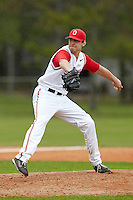 Ohio State Buckeyes pitcher Andrew Armstrong #19 delivers a pitch during a game against the USF Bulls at the Big Ten/Big East Challenge at Walter Fuller Complex on February 17, 2012 in St. Petersburg, Florida.  (Mike Janes/Four Seam Images)