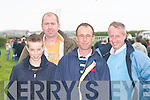 RACES: Enjoying the North Kerry Harriers Point to Point Races at Ballybunion on Sunday were Bryan Cooper, Padraig O'Connor, Alan Walsh and Tommy Cooper (Blennerville)..