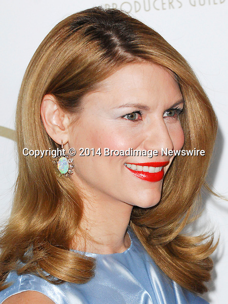 Pictured: Claire Danes<br /> Mandatory Credit &copy; Adhemar Sburlati/Broadimage<br /> The 25th Annual Producers Guild of America Awards<br /> <br /> 1/19/14, Los Angeles, California, United States of America<br /> <br /> Broadimage Newswire<br /> Los Angeles 1+  (310) 301-1027<br /> New York      1+  (646) 827-9134<br /> sales@broadimage.com<br /> http://www.broadimage.com