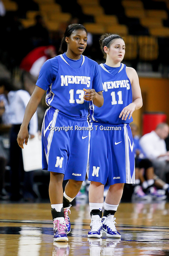 March 3, 2011: Memphis guard Danay Collier (13) and Memphis guard Alex Winchell (11) during first half womens Conference USA NCAA basketball game action between the Memphis Lady Tigers and the Central Florida Knights at the UCF Arena Orlando, Fl.