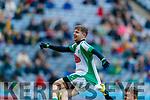 Ian McCarthy, Na Gaeil celebrates his third goal during the AIB GAA Football All-Ireland Junior Club Championship Final match between Na Gaeil and Rathgarogue-Cushinstown at Croke Park on Saturday.
