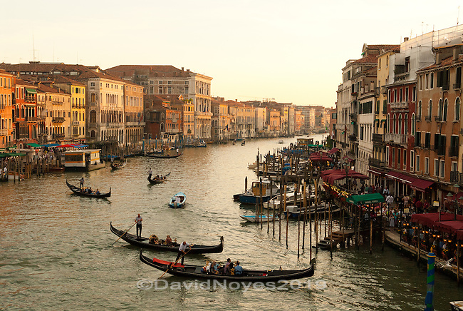 The city of Venice originated as united lagoon communities fleeing successive waves of invaders into Northern Italy during last years of the Western Roman Empire.  During the Middle Ages and the Renaissance, Venice was a major center for commerce and trade, as it controlled a vast sea-empire in the Mediterranean.