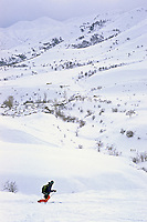 Ski touring above Vardahovit, Armenia, February 2014