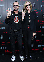 WEST HOLLYWOOD, CA, USA - SEPTEMBER 21: Ringo Starr, Barbara Bach arrive at the John Varvatos #PeaceRocks Ringo Starr Private Concert held at the John Varvatos Boutique on September 21, 2014 in West Hollywood, California, United States. (Photo by Xavier Collin/Celebrity Monitor)
