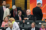 17.07.2011, Commerzbankarena, Frankfurt, GER, FIFA Women Worldcup 2011, Finale,  Japan (JPN) vs. USA (USA), im Bild:  <br /> G&uuml;nther Netzer und Bundeskanzler a.D. Dr. Helmut Kohl auf der Trib&uuml;ne <br /> <br /> // during the FIFA Women Worldcup 2011, final, Japan vs USA on 2011/07/17, FIFA Frauen-WM-Stadion Frankfurt, Frankfurt, Germany.  Foto &copy; nph / xxxxx *** Local Caption ***