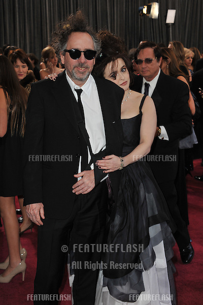 Helena Bonham Carter & Tim Burton at the 85th Academy Awards at the Dolby Theatre, Hollywood..February 24, 2013  Los Angeles, CA.Picture: Paul Smith / Featureflash