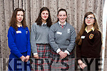 At the Kerry Comhairle Na nOg Agm in the Rose Hotel on Friday were Ailbhe Murphy, St Brigid's Secondary School, Killarney, Aoife O'Shea, ISK, Grace O'Grady, ISK, Megan O'Sullivan Presentation Listowel