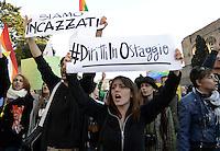 Roma, 12 Dicembre 2015<br /> Scateniamoci, la marcia dei diritti.<br /> A Roma in piazza per il diritto di amare liberamente, per la genitorialità e il contrasto della violenza di genere, contro omofobia e discriminazioni.