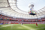 General view, JUNE 21, 2015 - Football / Soccer : <br /> FIFA Women's World Cup Canada 2015 Round of 16 match between Canada 1-0 Switzerland at BC Place Stadium, <br /> Vancouver, Canada. (Photo by Yusuke Nakansihi/AFLO SPORT)