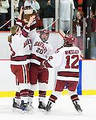 Kathryn Farni (Harvard - 8), Cori Bassett (Harvard - 18), Kate Buesser (Harvard - 20), Ashley Wheeler (Harvard - 12) - The Harvard University Crimson defeated the Northeastern University Huskies 1-0 to win the 2010 Beanpot on Tuesday, February 9, 2010, at the Bright Hockey Center in Cambridge, Massachusetts.