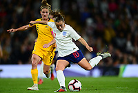 Fran Kirby of England scores to make it 1-0 during the Women's International friendly match between England Women and Australia at Ashton Gate, Bristol, England on 9 October 2018. Photo by Bradley Collyer / PRiME Media Images.