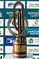 The trophy on display during the final round of the Oman Open, Al Mouj Golf, Muscat, Sultanate of Oman. 03/03/2019<br /> Picture: Golffile | Phil Inglis<br /> <br /> <br /> All photo usage must carry mandatory copyright credit (&copy; Golffile | Phil Inglis)