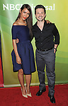 Daniella Alonso and Freddy Rodriguez arriving at the 'NBC Universal's Summer Press Day' held at Langham Huntington Hotel Pasadena, CA. April 8, 2014.