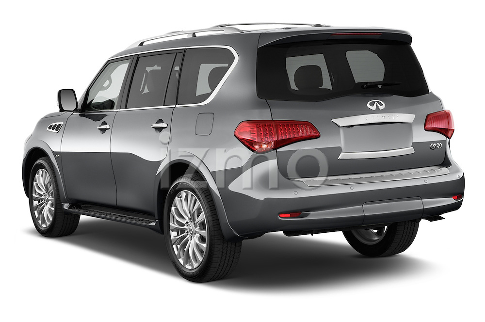 Car pictures of rear three quarter view of a 2015 Infiniti QX80 3.5 5 Door SUV Angular Rear