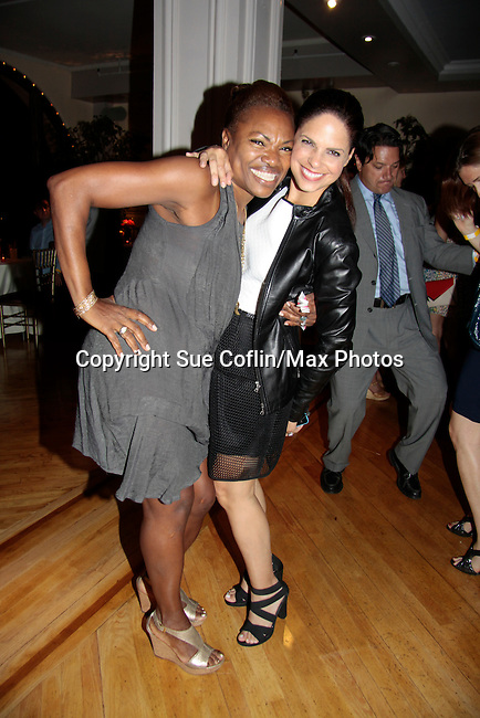 Founder Deborah Koenigsberger with Soledad O'Brien at Hearts of Gold - 45 A Different Kind of Fund Raiser on July 10, 2014 at Manhattan Penthouse, New York City, New Yor (Photo by Sue Coflin/Max Photos)