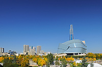 Canadian Museum for Human Rights (CMHR). Autumn.<br /> Winnipeg<br /> Manitoba<br /> Canada