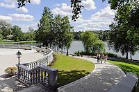Aufgang zum Stadtmuseum in Drusininkai, Litauen, Europa