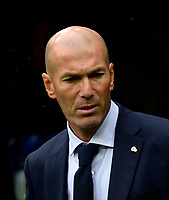 MADRID-ESPAÑA, 14-09-2019: Zinedin Zidane durante partido de la Liga de España, Real Madrid y Levante en el estadio Santiago Bernabeu de la ciudad de Madrid, España. / Zinedin Zidane, during a match between Real Madrid and Levante for the Liga of Spain in the Santiago Bernabeu stadium in Madrid, Spain Photo: ChakanaNews / Patricio Realpe / VizzorImage.