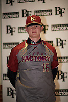 Joshua Brown (16) of Faith Lutheran High School in Las Vegas, Nevada during the Baseball Factory All-America Pre-Season Tournament, powered by Under Armour, on January 12, 2018 at Sloan Park Complex in Mesa, Arizona.  (Zachary Lucy/Four Seam Images)