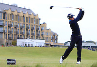Paul Dunne (IRL) on the 18th tee during Round 4 of the 2015 Alfred Dunhill Links Championship at the Old Course in St. Andrews in Scotland on 4/10/15.<br /> Picture: Thos Caffrey | Golffile
