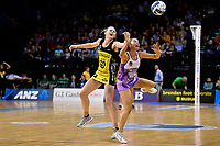 Pulse&rsquo; Katrina Rore and Stars&rsquo; Mila Reuelu-Buchanan in action during the ANZ Premiership - Pulse v Stars at TSB Arena, Wellington, New Zealand on Monday 13 May 2019. <br /> Photo by Masanori Udagawa. <br /> www.photowellington.photoshelter.com