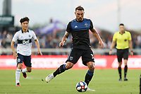 SAN JOSE, CA - AUGUST 24: Guram Kashia #37 of the San Jose Earthquakes during a Major League Soccer (MLS) match between the San Jose Earthquakes and the Vancouver Whitecaps FC  on August 24, 2019 at Avaya Stadium in San Jose, California.