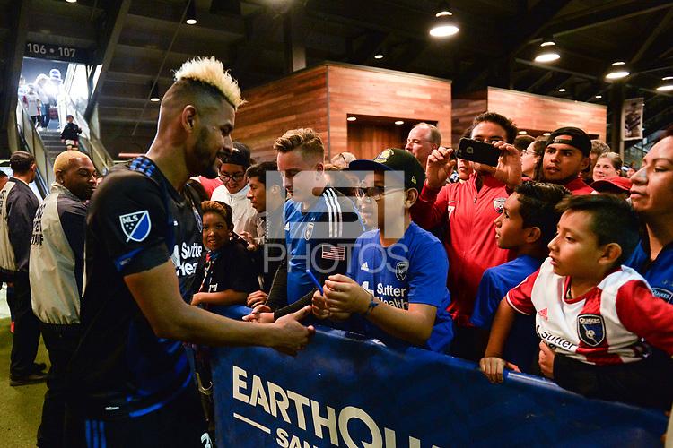 San Jose, CA - Saturday June 24, 2017: Anibal Godoy, fans during a Major League Soccer (MLS) match between the San Jose Earthquakes and Real Salt Lake at Avaya Stadium.
