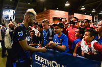 San Jose, CA - Saturday June 24, 2017: Anibal Godoy, fans during a Major League Soccer (MLS) match between the San Jose Earthquakes and Real Salt Lake at Avaya Stadium.