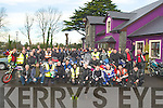 BIKERS: On Saturday Motor Bike riders gathered at O Riada bar & Restaurant Ballymacelligott to raise funds for Emmet O'Grady to race in next season Bike Racing in England....