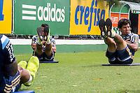 SÃO PAULO, SP, 04.11.2015- FUTEBOL-PALMEIRAS - Jogadores durante treino na Academia de Futebol do Palmeiras na Barra Funda, região oeste de São Paulo na manhã desta quarta-feira, 04. (Foto: Renato Mendes / Brazil Photo Press)