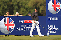 Shane Lowry (IRL) on the 2nd tee during the Pro-Am for the Sky Sports British Masters at Walton Heath Golf Club in Tadworth, Surrey, England on Tuesday 10th Oct 2018.<br />