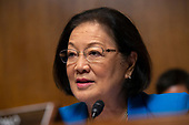 United States Senator Mazie Hirono (Democrat of Hawaii) speaks during the Subcommittee on the Constitution on Capitol Hill in Washington D.C., U.S. on July 16, 2019.<br /> <br /> Credit: Stefani Reynolds / CNP