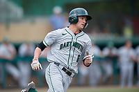 Dartmouth Big Green pinch hitter Justin Murray (6) runs to first base during a game against the USF Bulls on March 17, 2019 at USF Baseball Stadium in Tampa, Florida.  USF defeated Dartmouth 4-1.  (Mike Janes/Four Seam Images)