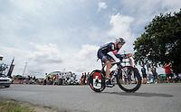 Matthias Brändle (AUT/IAM)<br /> <br /> stage 9: TTT Vannes - Plumelec (28km)<br /> 2015 Tour de France
