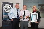 17/07/2015 The IRTE Skills Challenge 2015 prize-giving takes place at The National Motorcycle Museum, Birmingham. Sir Moir Lockhead (left) presents the Runner Up Mechanical Technician prize to Martin Tomkins (centre) of Metroline with sponsor Patricia Ann Cobbald of Allison Transmission.