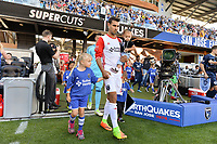 San Jose, CA - Saturday June 17, 2017: Chris Wondolowski prior to a Major League Soccer (MLS) match between the San Jose Earthquakes and the Sporting Kansas City at Avaya Stadium.