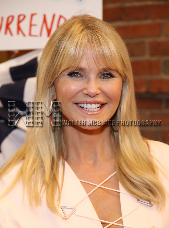 Christie Brinkley attends the Broadway Opening Night Performance for 'Michael Moore on Broadway' at the Belasco Theatre on August 10, 2017 in New York City.