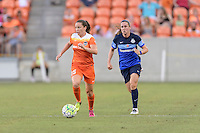 Houston, TX - Sunday June 19, 2016: Allysha Chapman during a regular season National Women's Soccer League (NWSL) match between the Houston Dash and FC Kansas City at BBVA Compass Stadium.