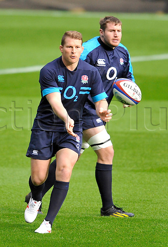 08.11.2013 Twickenham England. Dylan Hartley of England during the England Captains run and training session held at Twickenham Stadium.